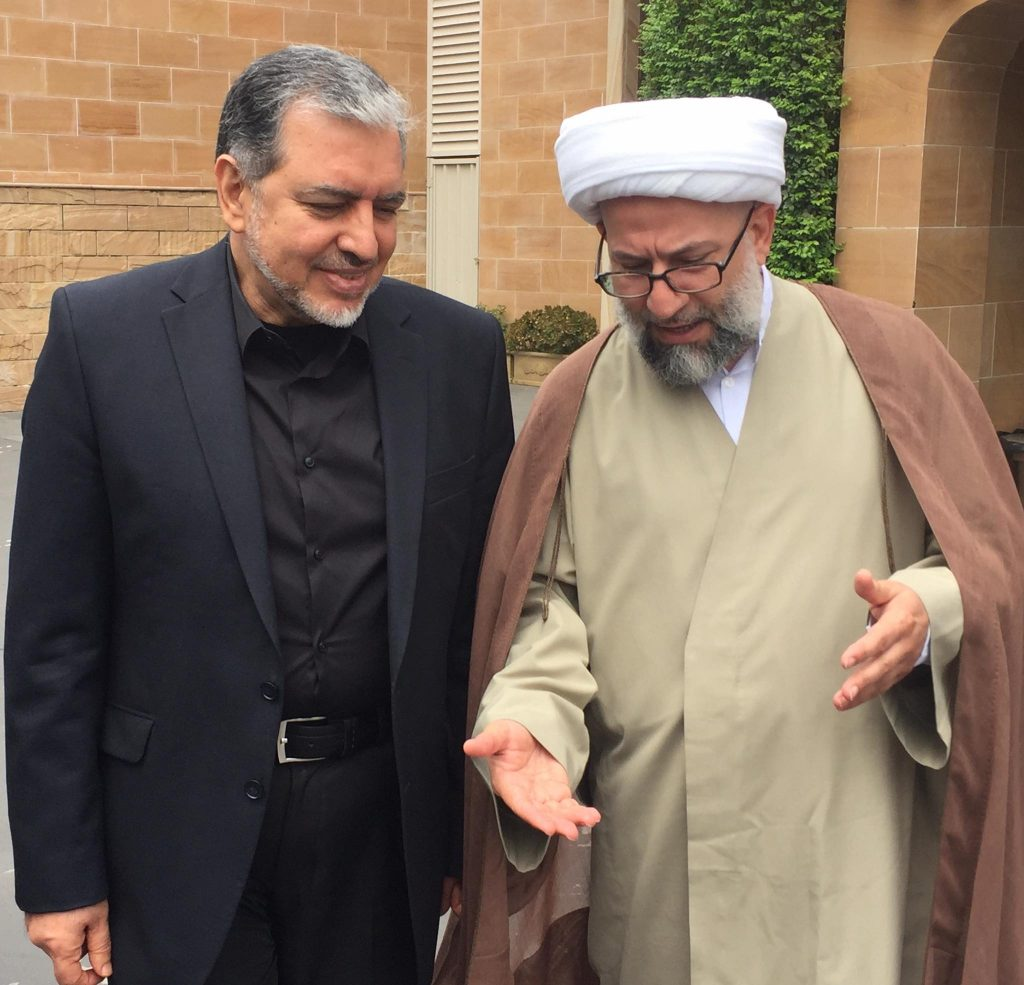 Photo of Sheikh Youssef Nabha receives the Islamic Republic of Iran Ambassador to Australia
