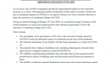 Photo of Arrahman College commencement delayed to 2022